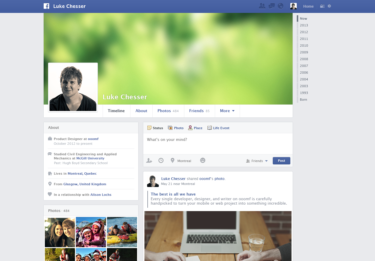 Popular uis free psds of popular web interfaces facebook 2013 timeline free psd pronofoot35fo Images